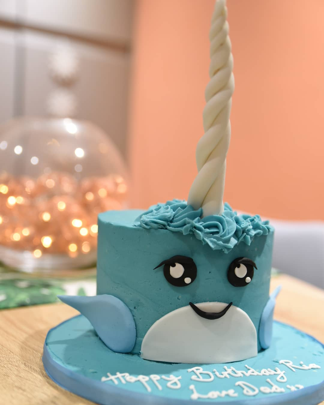 Celebration Cake Narwhal Character