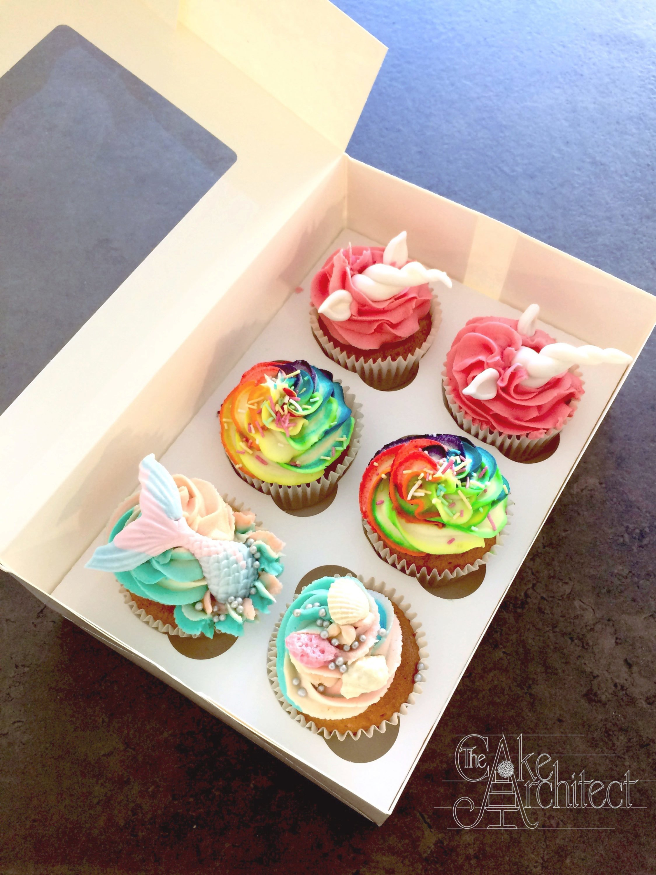 Cupcakes Colourful with Mermaid and Unicorn details