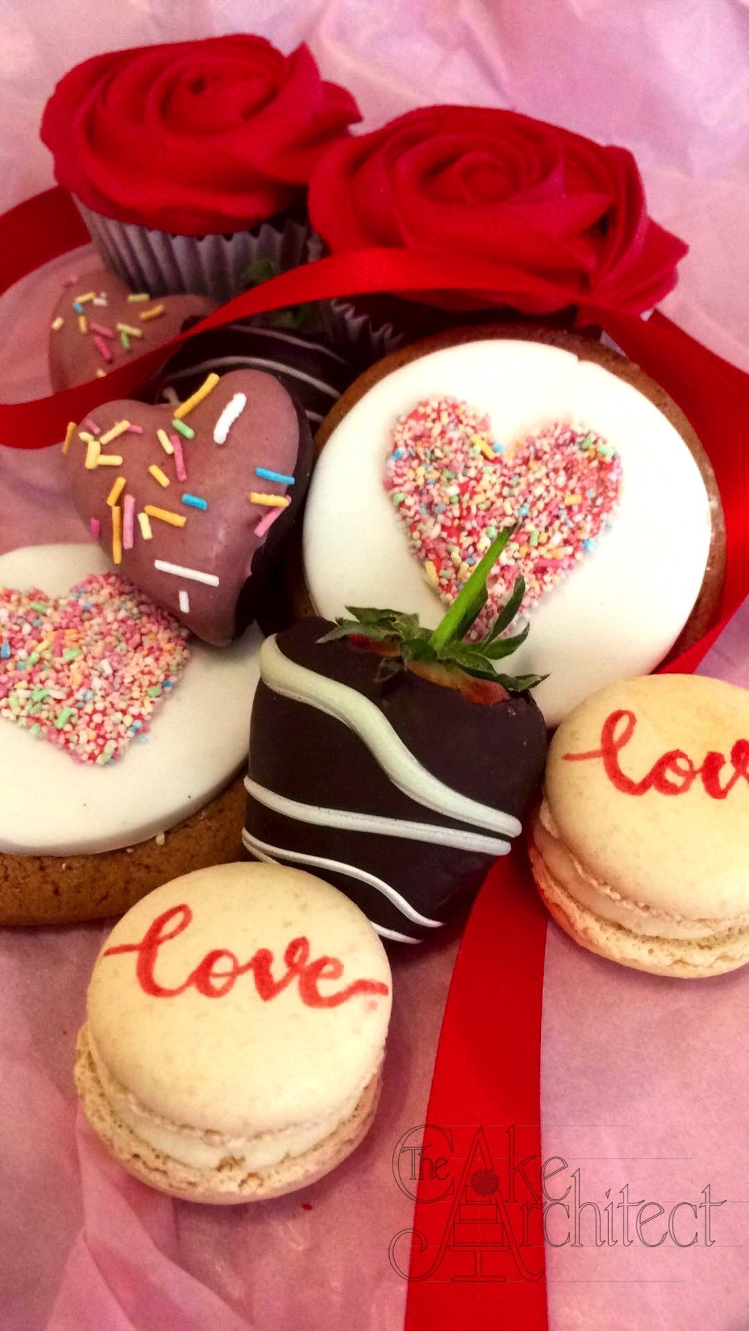 Romantic Valentines Day Cakes, The Cake Architect, Bradford-on-Avon