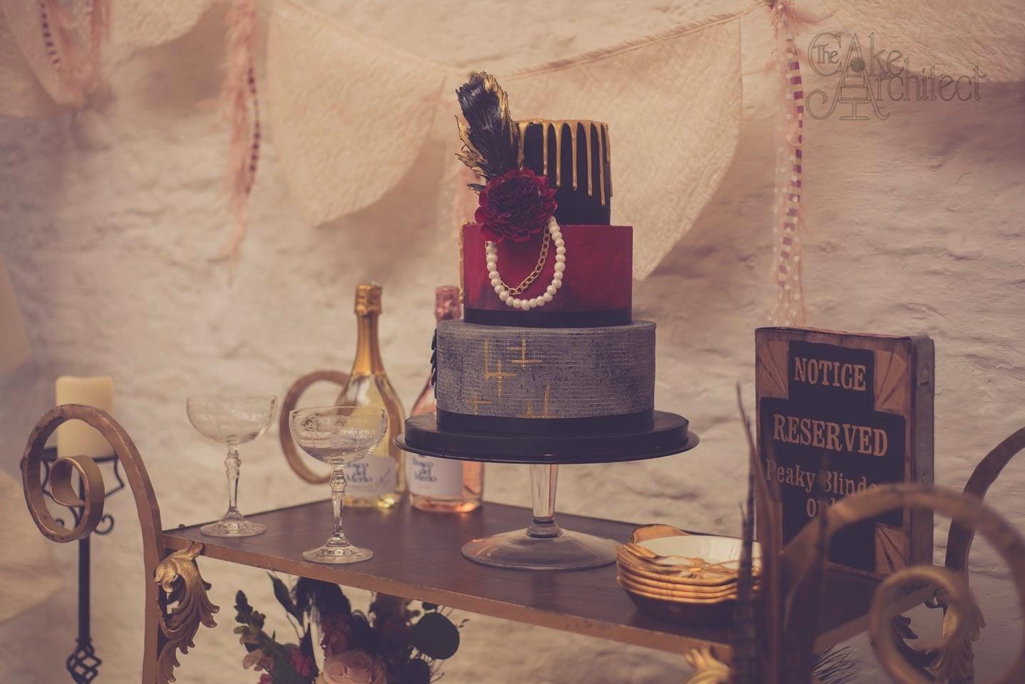 Luxury Wedding Cake, Peaky Blinders, The Cake Architect, Bradford-on-Avon
