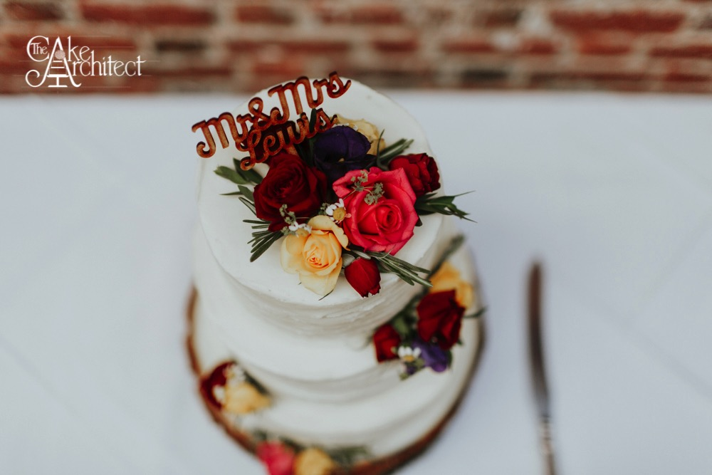 Floral Wedding Cake, The Cake Architect, Bradford-on-Avon