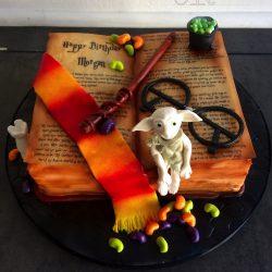Celebration Cake Birthday Harry Potter Themed Dobby Topper