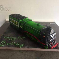 Celebration Cake Sculpted Train