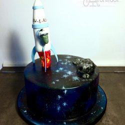 Celebration Cake Spaceship Birthday Space