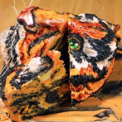 EDIT Celebration Cake Inside of Sculpted Tiger
