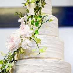 EDIT Wedding Cake 4 Tier Textured Buttercream and Sugar Peony Vine Accent(1)