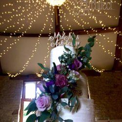 Wedding Cake 3 Tier Textured Buttercream fresh flowers