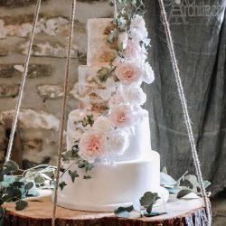 Wedding Cake 4 Tier Semi naked Reveal