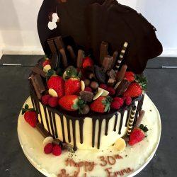 birthday choc drip shard cake 1