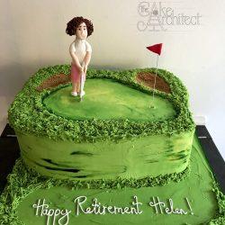 golf birthday cake 2